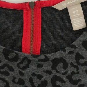 Sz 10P Banana Republic grey cheetah print dress